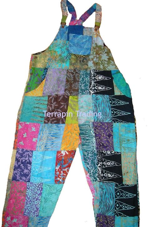 Patchwork Dungarees - fair trade patchwork dungarees with real patches by