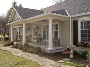 ranch houses with front porches front porch addition ranch house pinteres