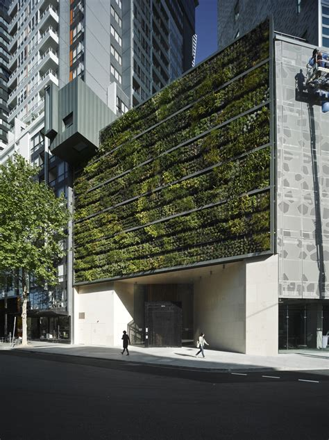 Vertical Garden Apartment Triptych Apartments Green Roofs Australasia