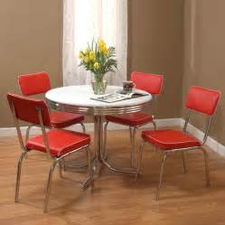 Kitchen Dinette Sets by Shop Tms Furniture Retro Red Dining Set With Round Dining