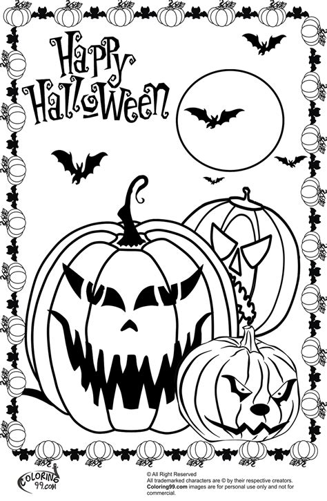 free scary monsters coloring pages