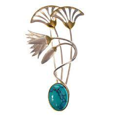 lotus tattoo jewelry vintage art deco 14k gold enamel egyptian lotus flower and