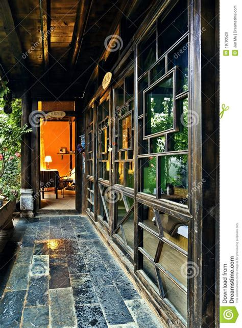 ancient chinese house interior stock photo image