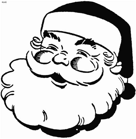 santa coloring sheets free printable santa claus coloring pages for