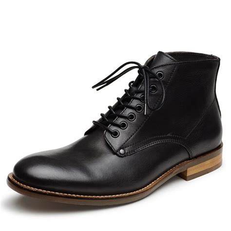 mens black leather boots mens leather ankle boots yu boots