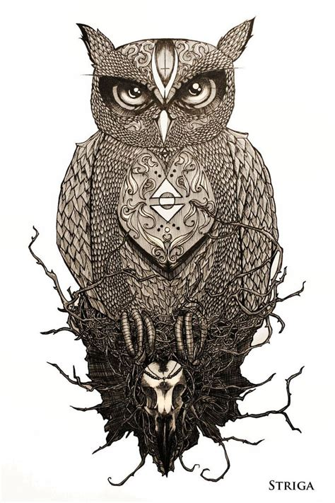 great horned owl tattoo design great horned owl drawing www imgkid the