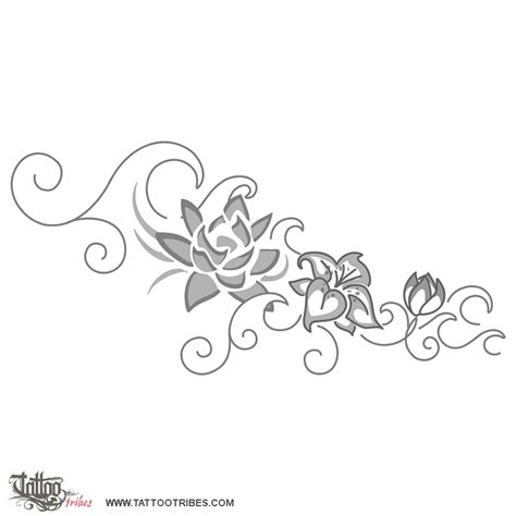Wave And Flower of flowers and waves protection and prosperity custom designs on