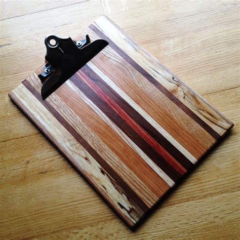 Handmade Clipboard - handmade striped wooden clipboard
