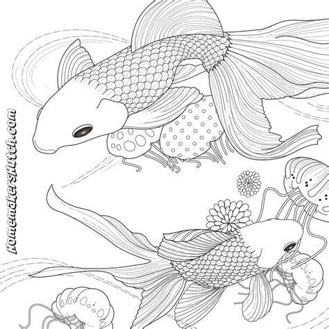 these fish need some color adult coloring page