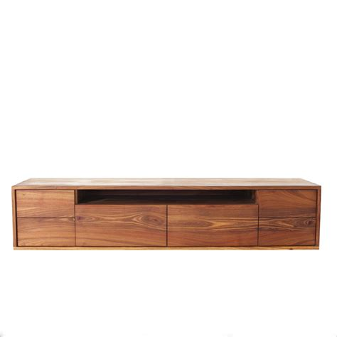 Dining Room Table With Benches by The Goodwood Co Gspek Floating Tv Unit In Solid Wood Kiaat