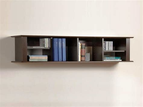 simple wall mounted bookshelves ideas for make wall