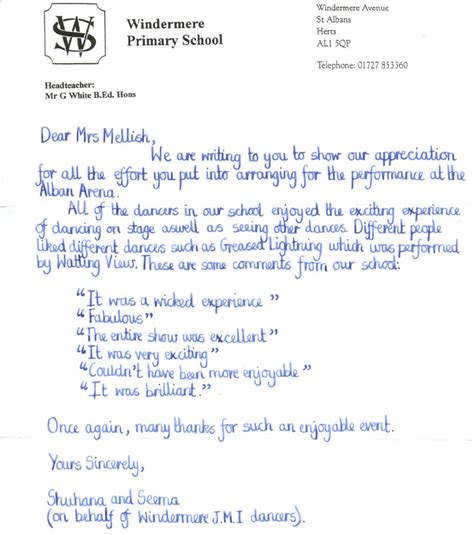 Formal Letter Exle Ks2 Writing A Letter Of Application Ks2 Stonewall Services