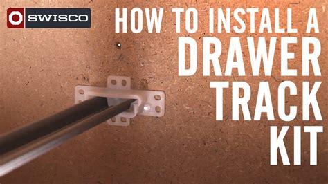 laufschiene schublade how to install a drawer track kit