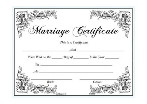 marriage license template marriage certificate template microsoft word selimtd