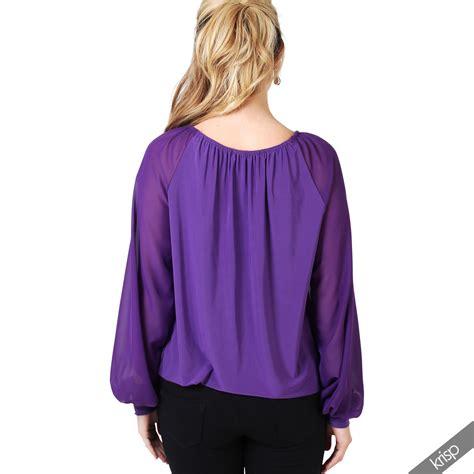 Pastel Flowery Sleeves Top Blouse boho cold shoulder bardot chiffon
