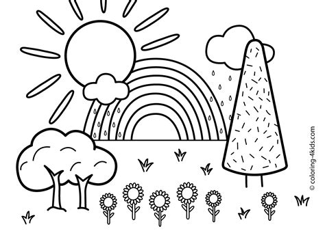 printable coloring pages the rainbow printable pencil and in color