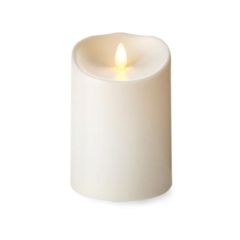 luminara candele luminara 174 flameless outdoor candle 5 inch ivory pillar