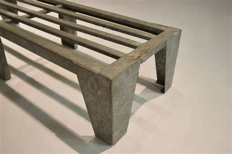 galvanized pipe bench galvanized steel bench circa 1960 made in usa for sale at