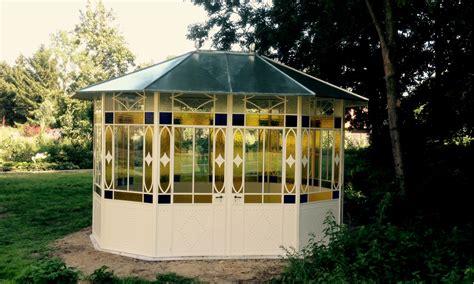 pavillon aus metall pavillon aus metall runder nostalgischer pavillon tobie