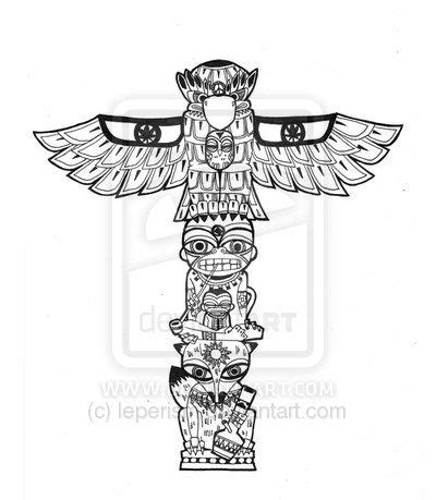 tribal totem pole tattoo designs totem by leperism татуировки totems