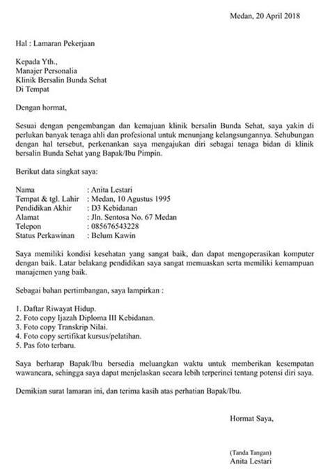 Contoh Surat Lamaran Cpns Formasi Bidan Gagas Pedia