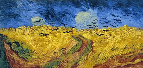 5 Paintings By Gogh by Starbucks And Austen Wheatfield With Crows By