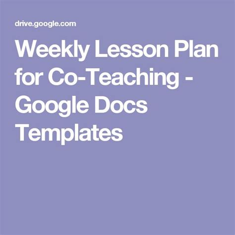25 best ideas about lesson plan template doc on pinterest