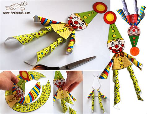 How To Make A Paper Clown - krokotak cheerful paper clown