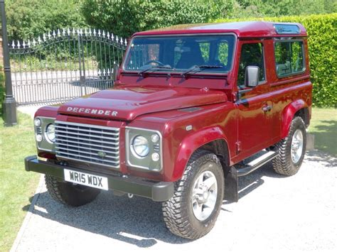used land rover defender used montalcino red land rover defender for sale essex