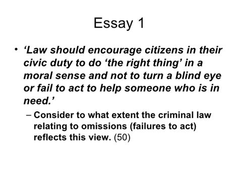 Omissions Criminal Essay by Exchange Co Uk Shared Resource