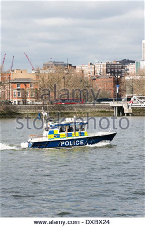 thames river boat launch uk police boat on the thames london uk stock photo