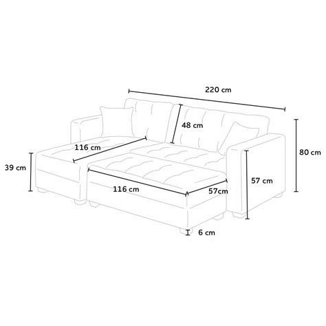 dimensioni divano letto divano angolare pronto letto con contenitore e penisola 3