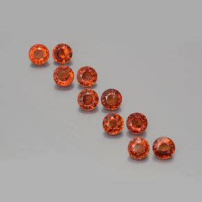 Spessartite Garnet 8 76ct 3 8 carat orange spessartite garnet gems from
