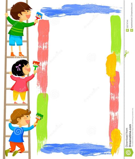painting for toddlers free painting a frame stock vector image of character