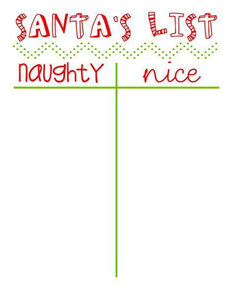 printable santa good list naughty or nice list printable