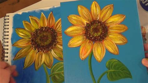 watercolor tutorial sunflowers sunflower painting tutorial free acrylic painting lesson