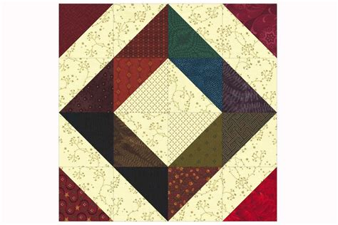 Free Patchwork Blocks - easy patchwork scrap quilt block pattern