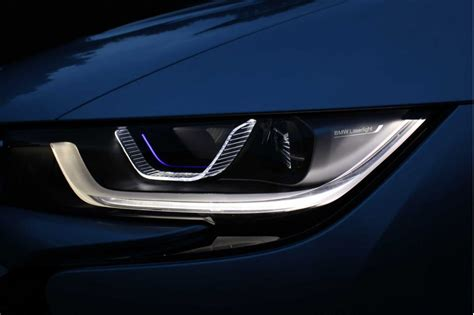bmw i8 headlights bmw is with laser lights as the 2015 i8 enters