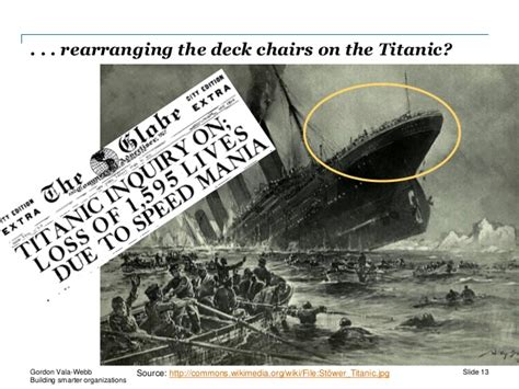 rearranging deck chairs on the titanic idiom building smarter organizations effective collaborations