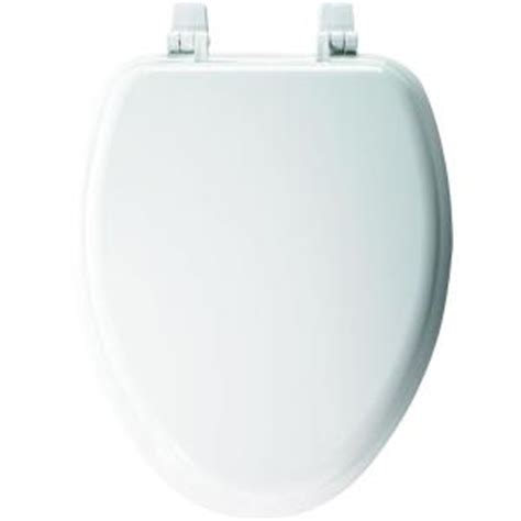 church elongated closed front toilet seat in white 1400ttc