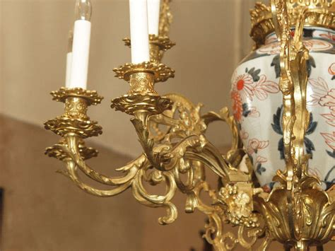Vintage Porcelain Chandelier Antique Bronze And Imari Porcelain Chandelier For Sale At 1stdibs