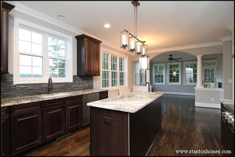 light and dark kitchen cabinets dark cabinets with light granite best color combinations