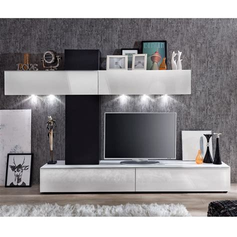 white wall units for living room bremen living room wall unit in white gloss and black with