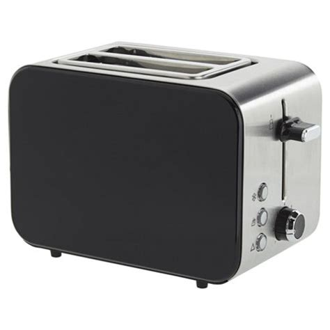 Tesco 2 Slice Toaster buy tesco 2 slice stainless toaster black from our