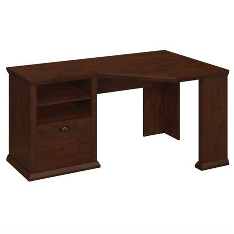 Corner Desk Cherry Bush Yorktown 60w Corner Desk In Antique Cherry Wc40315 03