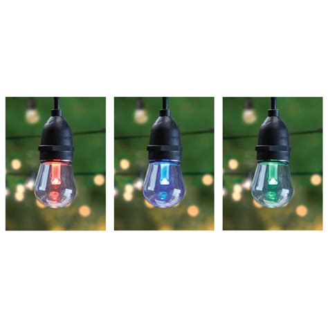 color changing string lights 30 color changing led string lights feit electric