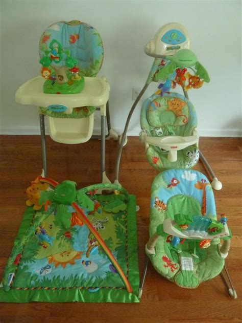 rainforest swing chair fisher price 25 best ideas about high chair mat on pinterest high