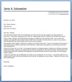 Cover Letter Template Australia Au Pair Cover Letter Sample Resume Downloads