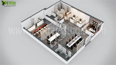 3d office floor plan modern office 3d floor plan design by yantramstudio 3d