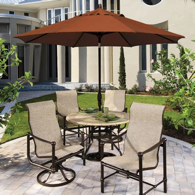 patio furniture sets with umbrella choosing the best outdoor patio set with umbrella for your